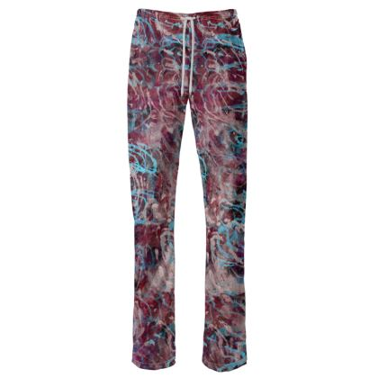 Womens Trousers Watercolor Texture 16