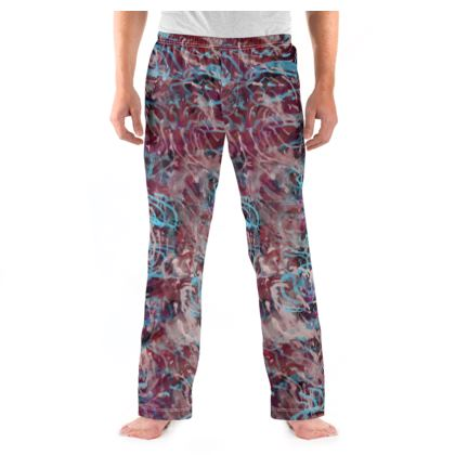 Mens Pyjama Bottoms Watercolor Texture 16