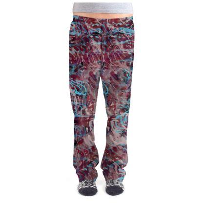 Ladies Pyjama Bottoms Watercolor Texture 16