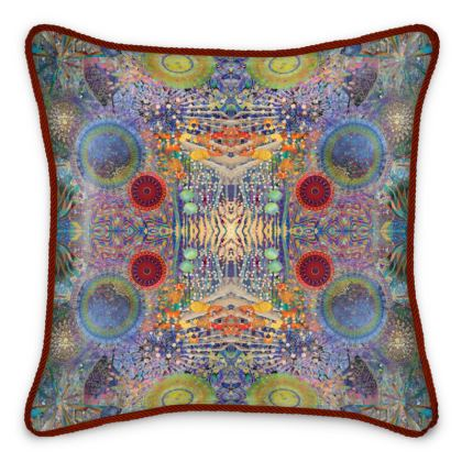 Wish of the Cosmos Silk Cushion