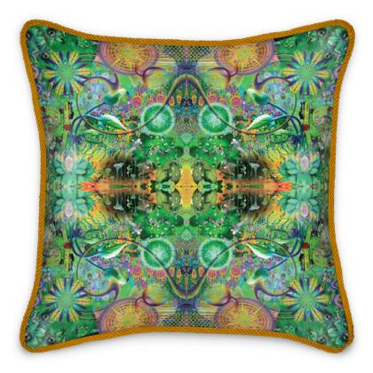 Ayahuasca Dreaming Silk Cushion