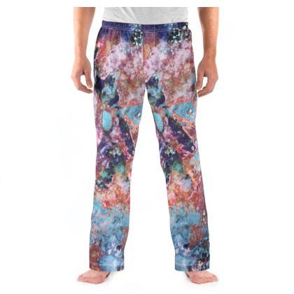 Mens Pyjama Bottoms Watercolor Texture 13