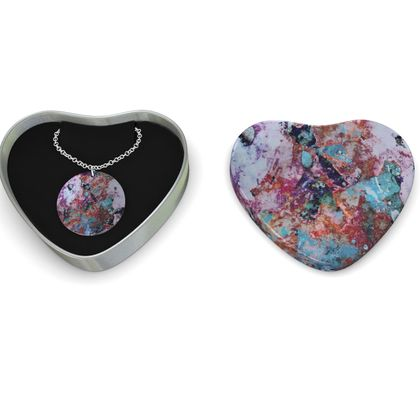 Sterling Silver Necklace Watercolor Texture 13