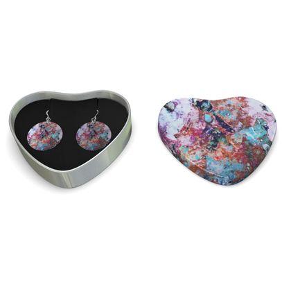 Sterling Silver Earrings Watercolor Texture 13