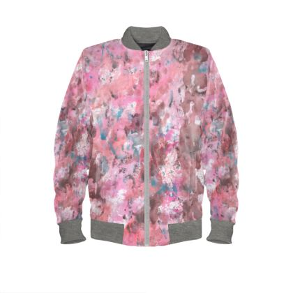 Ladies Bomber Jacket Watercolor Texture 17