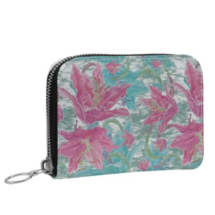 Small Leather Zip Purse  Lily Garden  Secrets