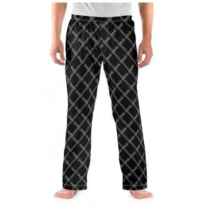 Soyuz Spacecraft Pattern Mens Black Pyjama Bottoms