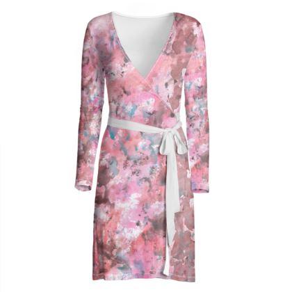 Wrap Dress Watercolor Texture 18