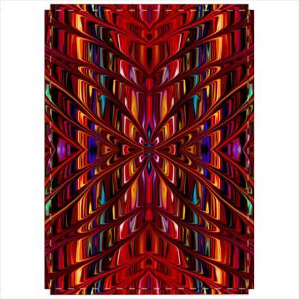 Folding Screen Red Tree