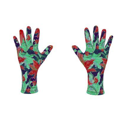 Fleece Gloves  Lily Garden  Jubilant