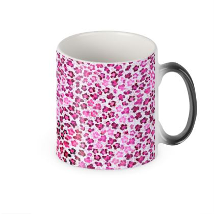 Leopard Skin in Magenta Collection Heat Changing Mug