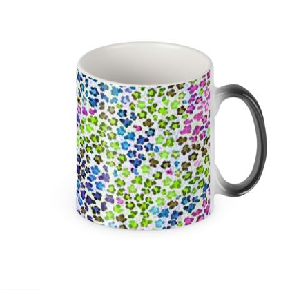 Leopard Skin Multicoloured Collection Heat Changing Mug