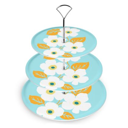 Minimal Floral Cake Stand