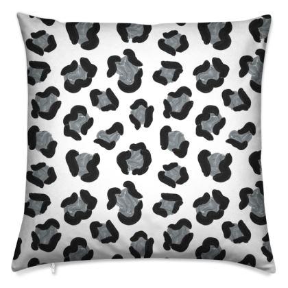 Snow Leopard Print Cushion