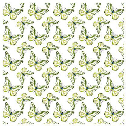 Watercolour Spring Butterflies Pattern Cushion