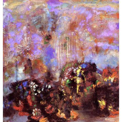Cushions: The Purple Garden
