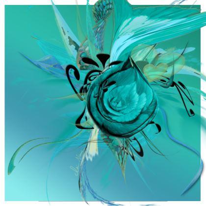 Tunic, T Shirt Dress – Tunika, T-shirt klänning - Turquoise on Turquoise