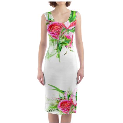 Bodycon dress - Fodralklänning - Pastells White