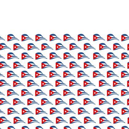 Cuban Flapping Flag Leather Belt