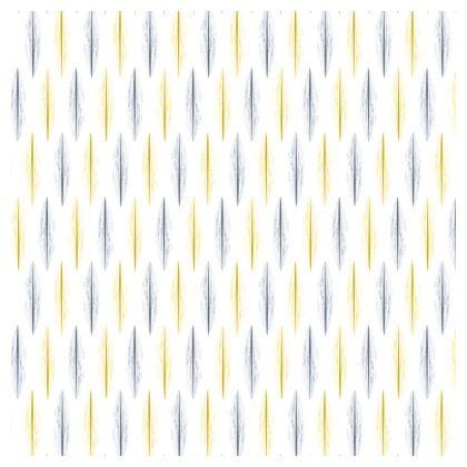 Yellow Grey Feather Pattern [ON WHITE]