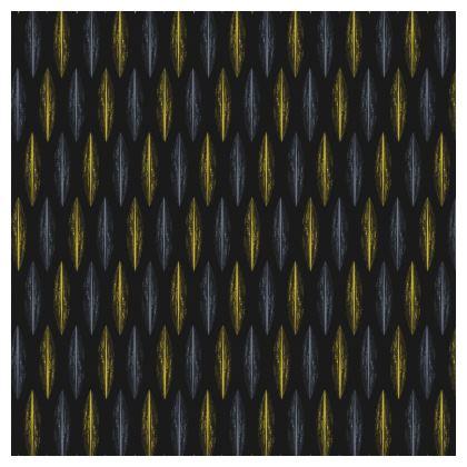 Yellow Grey Feather Pattern [ON DARK GREY]