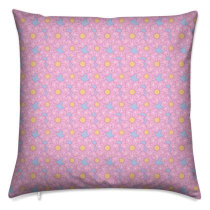 Cherry Blossoms Pattern Cushion