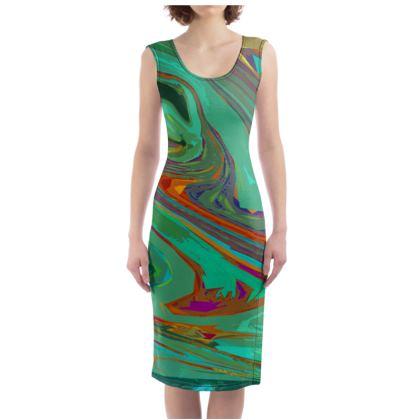 Bodycon Dress - Abstract Diesel Rainbow 2