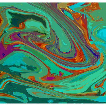 Ladies Tunic T Shirt - Abstract Diesel Rainbow 2