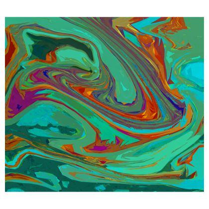 Short Flared Skirt - Abstract Diesel Rainbow 2