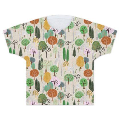 Winter Woods Kids T Shirts