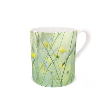 Bone China Mug in Buttercup Meadow Flower Design.