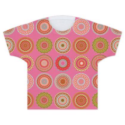 Cupcake Market Mandala Kids T Shirt