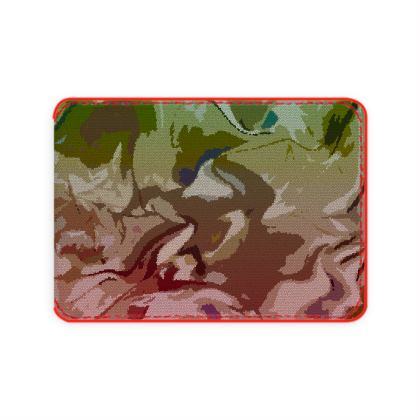 Card Holder - Honeycomb Marble Abstract 2