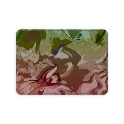 Leather Card Case - Honeycomb Marble Abstract 2