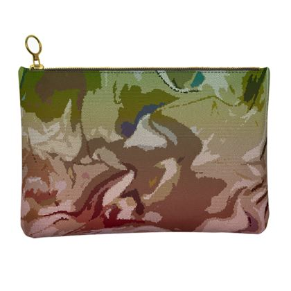 Leather Clutch Bag - Honeycomb Marble Abstract 2