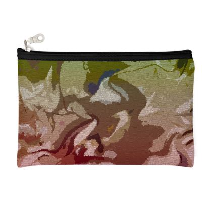 Zip Top Pouch - Honeycomb Marble Abstract 2