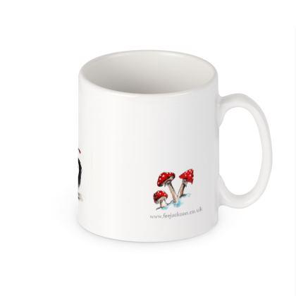 'Knitting Wolf' Vegan friendly ceramic Builders Mug