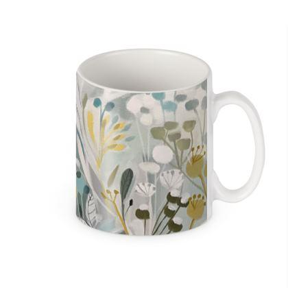 Mug in Natalie Rymer Winter Greys design