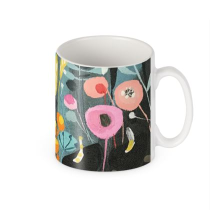 Mug in Natalie Rymer Wild Flowers design