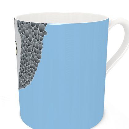 African Grey Parrot [SKY BLUE] Coffee Mugs