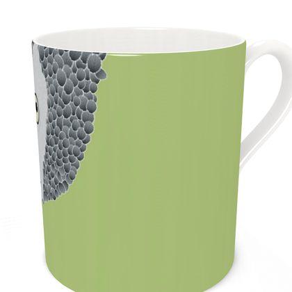 African Grey Parrot [SPRING GREEN] Coffee Mugs