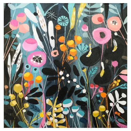 Set of Coasters in Natalie Rymer Wild Flowers design