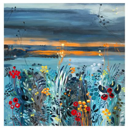 Set of Coasters in Natalie Rymer Setting Sun design