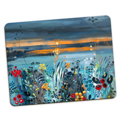 Set of Placemats in Natalie Rymer Setting Sun design