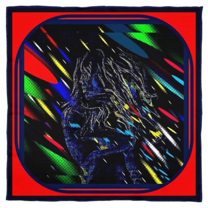 foulard in seta linea la strada delle fiabe