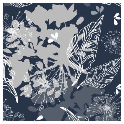 Blue Herbarium Cushion