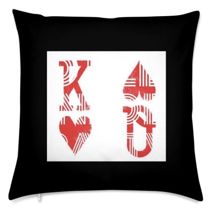 King and Queen Logo Cushion