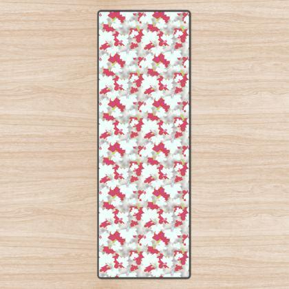 Yoga Mat  Oriental Leaves  Snowflake