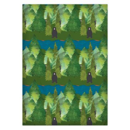 Bear Woods Duvet Cover