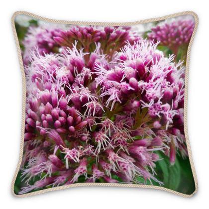 Silk Cushion Raspberries and Cream